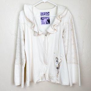 🌻 Cirque du Soleil   Cream Jacket with Patchwork